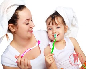 Practice your child for their oral care habits