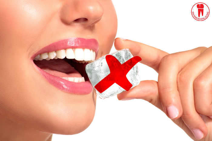 The teeth after treatment will no longer be solid as before, do not eat hard foods or high temperatures